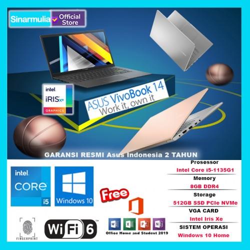 "ASUS VIVOBOOK 14 K413EA i5 1135G7 512GB SSD 8GB 14"" FHD IPS W10 OHS"