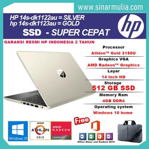 HP 14s-dk1122AU/14s-dk1123AU Athlon-3150U 4GB 512SSD Win10+OHS 14 inch2