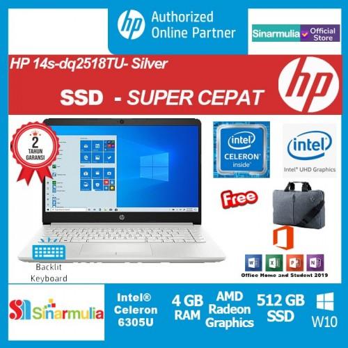 HP 14s-dq2518TU Celeron 6305U 512GB SSD 4GB Intel UHD Win10+OHS