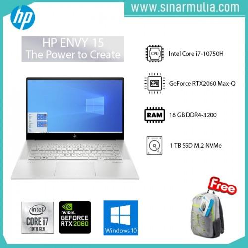 "HP ENVY 15-EP0016TX i7-10750H 16GB 1TB RTX 2060 Max Q 6GB 15.6"" Touch"