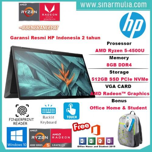 Hp Envy X360 13 Ryzen 5 4500U 8GB 512SSD WIN10+OHS AY0005AU5