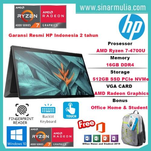 HP Envy x360 13 Ryzen 7 4700U 16GB 512ssd Vega 10 W10 13.3FHD AY0006AU6