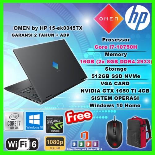 HP OMEN 15-ek0045TX i7-10750H 512GB SSD 16GB GTX 1650 Ti 4GB WIN10+OHS