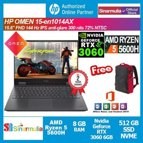 HP Omen 15-en1014AX Ryzen 5-5600H RTX3060 512GB SSD 8GB Win10+OHS