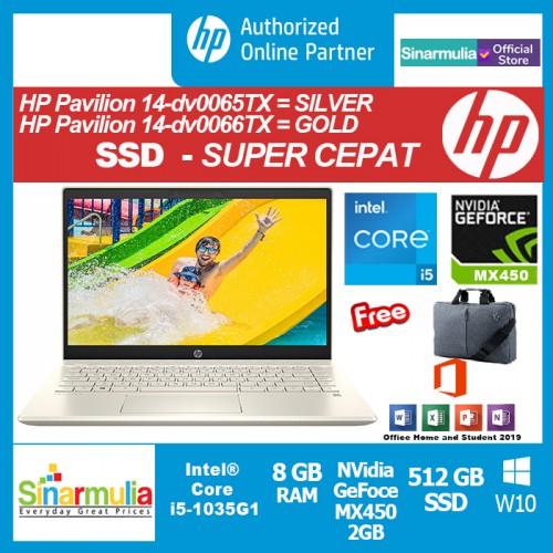 HP Pavilion 14-dv0065TX/dv0066TX i5-1135G7 512GB SSD 8GB MX450 2GB W10