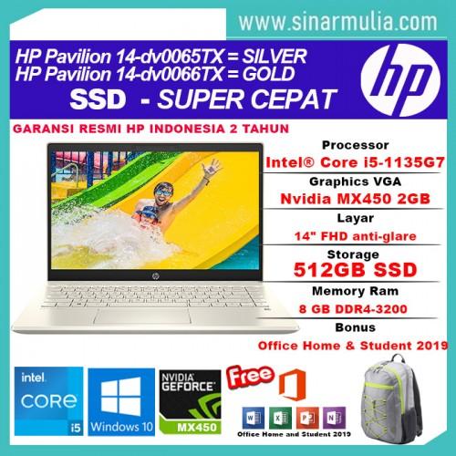 HP Pavilion 14-dv0065TX/dv0066TX i5-1135G7 512GB SSD 8GB MX450 2GB W102