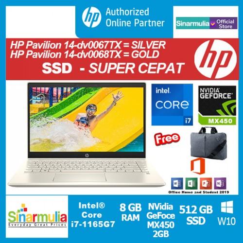 HP Pavilion 14-dv0067TX/dv0068TX i7-1165G7 512GB SSD 8GB MX450 2GB3