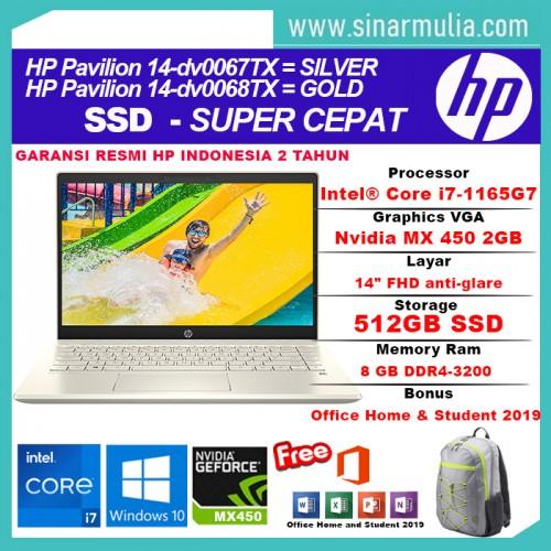 HP Pavilion 14-dv0067TX/dv0068TX i7-1165G7 512GB SSD 8GB MX450 2GB2