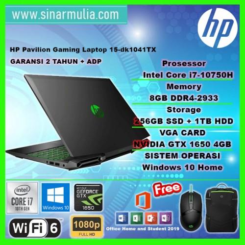 HP PAVILION GAMING 15-DK1041TX i7-10750H 8GB 256GB+1TB GTX1650 144Hz