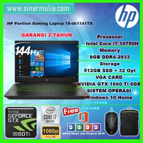 HP PAVILION GAMING 15 dk1141TX i7 10750H GTX1660Ti 6GB 8GB 512ssd+32opt