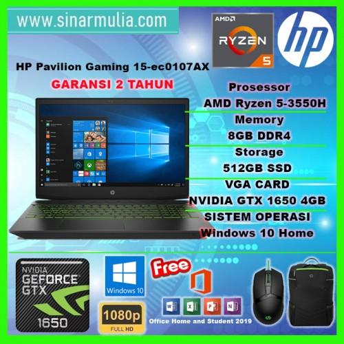 HP Pavilion Gaming 15 Ryzen 5 3550H 8GB 512SSD GTX1650 4GB Win10+OHS