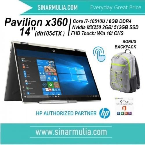 HP Pavilion X360 14-dh1054TX - Silver