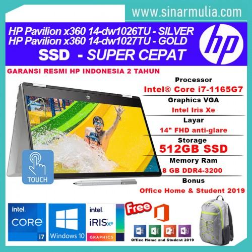 HP Pavilion x360 14 dw1026TU/dw1027TU i7-1165G7 512GB SSD GB Intel Xe2