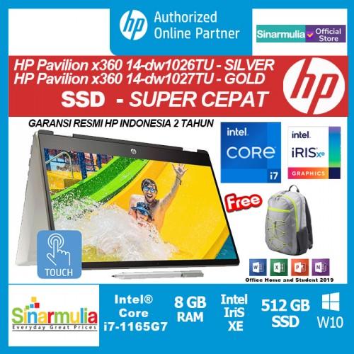 HP Pavilion x360 14 dw1026TU/dw1027TU i7-1165G7 512GB SSD GB Intel Xe