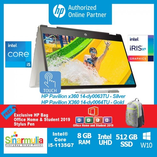 HP Pavilion x360 14-dy0063TU / dw0064TU i5-1135G7 512GB SSD 8GB Intel Xe