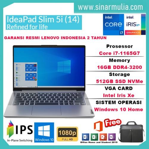 Laptop Lenovo IdeaPad Slim 5i i7-1165G7 16GB 512GB SSD Iris Xe WIN104