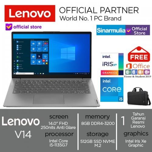 Laptop Lenovo V14 G2 i5-1135G7 512GB SSD 8GB Iris Xe FHD WIN10 + OHS