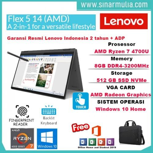 Lenovo Flex 5 Ryzen 7 4700U 8GB 512GB SSD IPS Win10+OHS Original5
