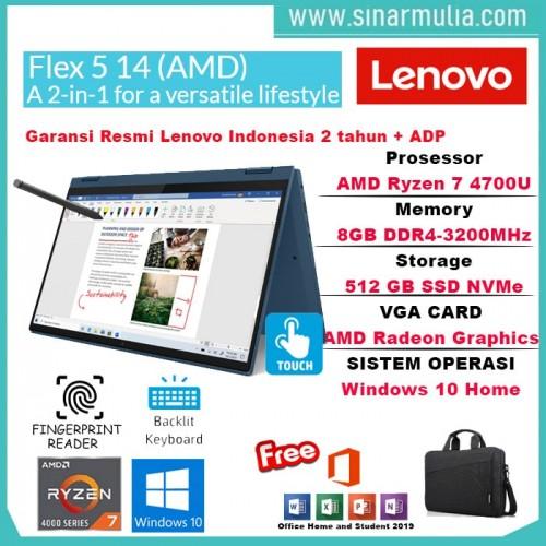 Lenovo Flex 5 Ryzen 7 4700U 8GB 512GB SSD IPS Win10+OHS Original1
