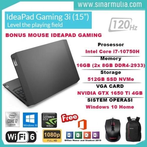"Lenovo Gaming 3i Core i5-10300H 8GB 512GB SSD 15.6"" GTX 1650 4GB win10+OHS1"