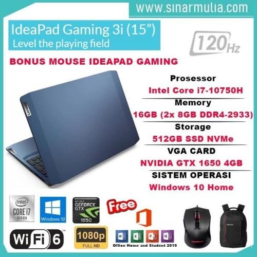 Lenovo Gaming 3i core i7-10750H 16GB 512GB SSD GTX 1650 4GB win101