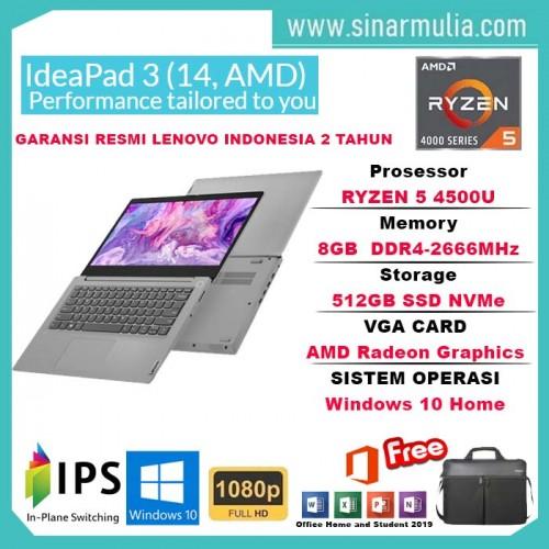 Lenovo ideapad Slim 3 Ryzen 5 4500U 8GB 512GB SSD Win10+OHS PLATINUM1