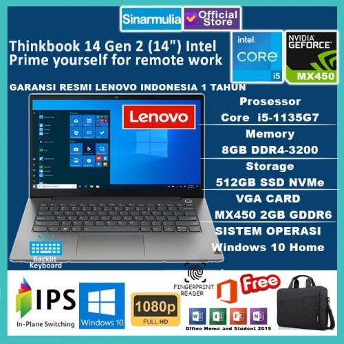 Lenovo Thinkbook 14 G2 i5-1135G7 512GB SSD 8GB MX450 2GB