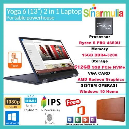 LENOVO YOGA 6 Ryzen 5 PRO 4650U 512GB SSD 16GB 72% NTSC WIN10+OHS1