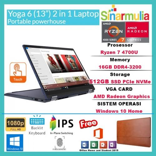 "Lenovo Yoga 6 Ryzen 7 4700U 512GB SSD 16GB 13.3"" 72% NTSC WIN10+OHS1"