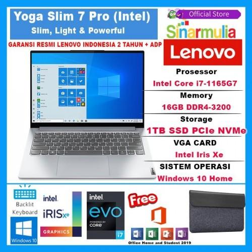 LENOVO Yoga Slim 7i Pro i7-1165G7 16GB 1TB SSD Iris Xe 2.8K W10+OHS