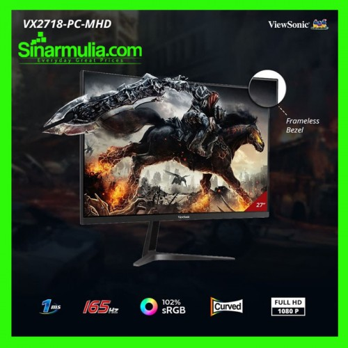 "Monitor Gaming 27"" ViewSonic VX2718-PC-MHD 165Hz