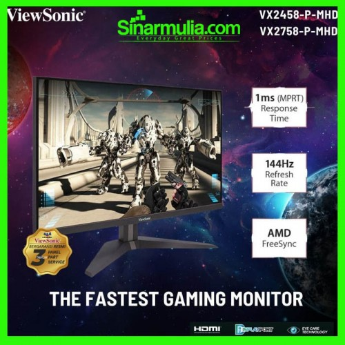 "Monitor LED 24"" ViewSonic VX2458-P-MHD