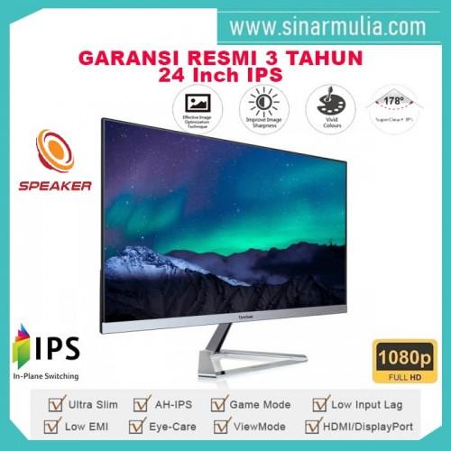 "Monitor LED 24"" ViewSonic VX2476-SMHD|Full HD|IPS|Speaker1"