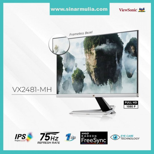 Monitor LED 24 ViewSonic VX2481-MH 75Hz 102% sRGB IPS Free Syn 1ms