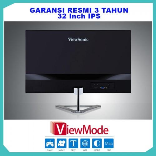 "Monitor LED 32"" ViewSonic VX3276-2K-MHD |IPS|Frameless|HDMI|DP9"