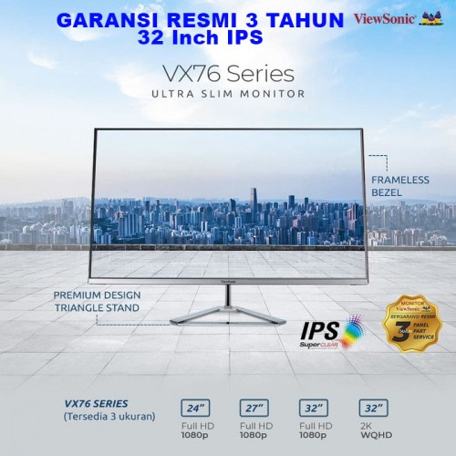 "Monitor LED 32"" ViewSonic VX3276-2K-MHD 