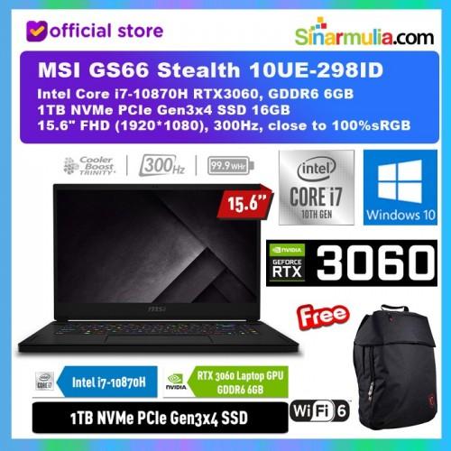 MSI GS66 Stealth 10UE-298ID i7-10870H RTX3060 6GB 1TB SSD 16GB 300Hz1