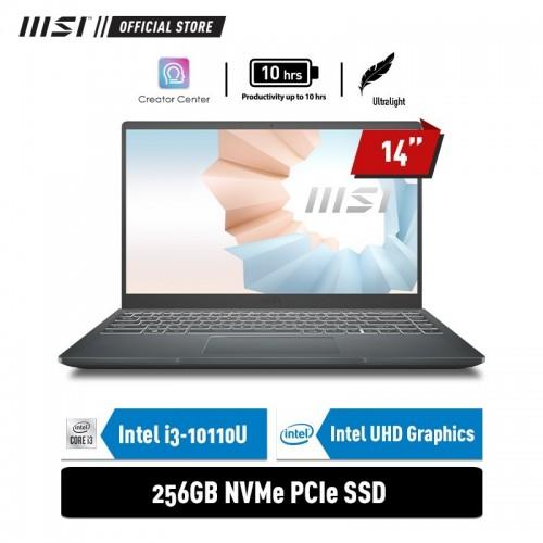 "MSI MODERN 14 B10MW i3-10110U 8GB 256GB 14"" FHD Win10Home1"