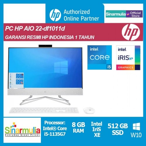 PC HP All-in-One 24-df1011d i5-1135G7 8GB 512GB SSD Iris Xe Win10