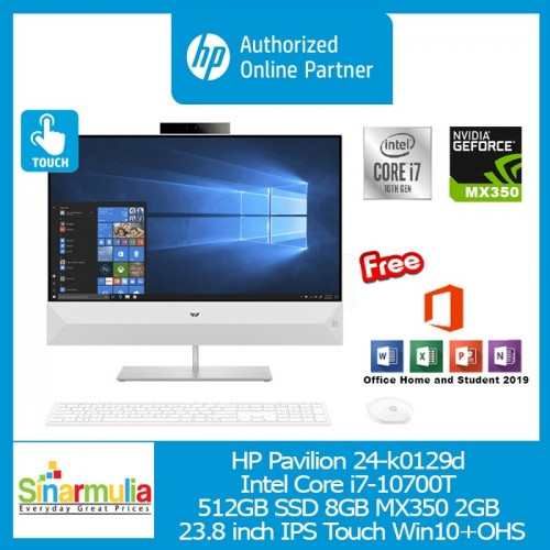 PC HP Pavilion 24-k0129d i7-10700T 512GB SSD 8GB MX350 2GB Win10+OHS
