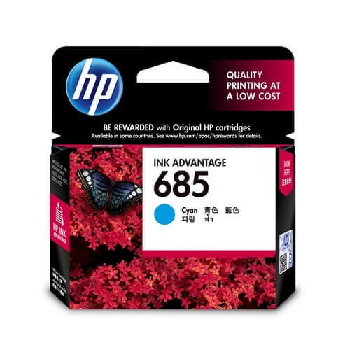 HP 685 Cyan Ink Cartridge