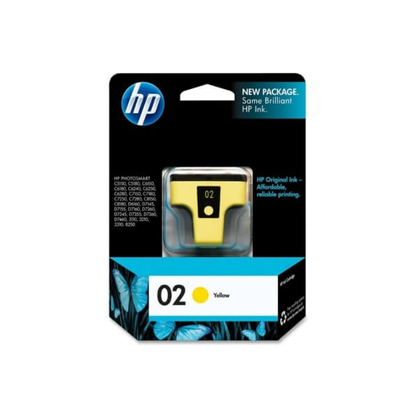 HP 02 Yellow Ink Cartridge