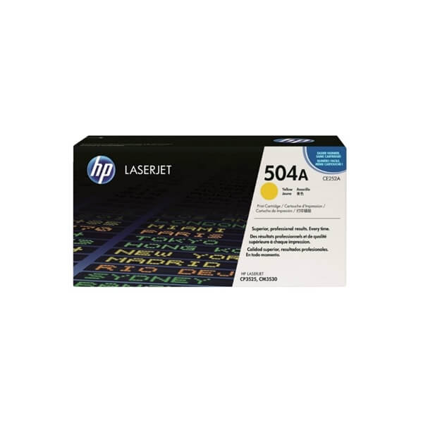 HP 504A Yellow Toner ( CE252A )