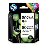 HP 802 2-pack Small Black/Tri-color Original Ink Cartridges